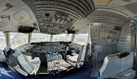Cockpit des Tankers Kc10 stockfoto