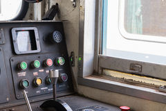 Cockpit des thailändischen Zugs stockfoto