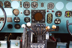 Cockpit of Douglas DC-3 Stock Images