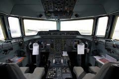 Cockpit eines Flugzeuges Stockfotos