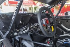 Cockpit eines Rennwagens stockfotografie