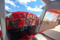 cockpit för cessna 140 Arkivbilder