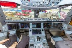 Cockpit för flygbuss A350 Fotografering för Bildbyråer