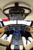 Cockpit för stråle för 6000 affär för Bombardier global på Singapore Airshow Arkivfoton