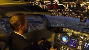 Cockpit f?r borgerligt flygplan