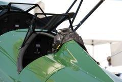 Cockpit and flight helmet stock images