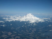 Cockpit-Foto vom Mount Rainier Lizenzfreies Stockbild