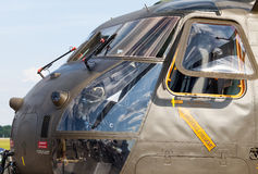 Cockpit from a german ch-53 transport helicopter Stock Image
