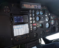 Cockpit of helicopter Royalty Free Stock Image