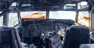 Cockpit of the helicopter Royalty Free Stock Photography