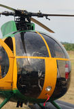 Cockpit of an helicopter for transporting people Stock Photos