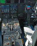 Cockpit of Hurricane Hunter special airplane Stock Images