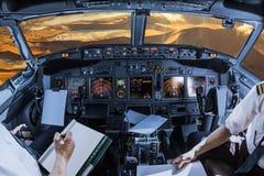 Cockpit i den Sossusvlei öknen Arkivbilder