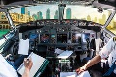 Cockpit i Dubai Royaltyfria Bilder
