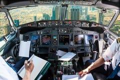 Cockpit i i stadens centrum Dubai Royaltyfria Bilder