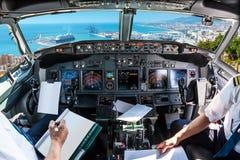 Cockpit i port av Malaga Royaltyfri Foto