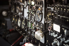 Cockpit indicators. Royalty Free Stock Photo