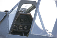 Cockpit with instruments Stock Image
