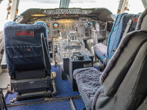 Cockpit of a jumbo jet Stock Image