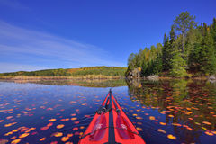 From cockpit of kayak Stock Photography