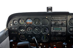 Cockpit of light airplane. Stock Photos
