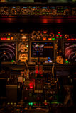 Cockpit lights. Boeing 737NG cockpit lights test Royalty Free Stock Photography