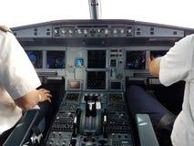 Cockpit. Lufthansa clean Stock Image