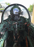 Cockpit of the Mig-21 fighter jet Royalty Free Stock Photography