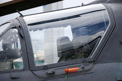 Cockpit of military helicopter Stock Images