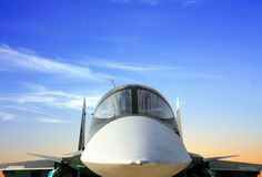 Cockpit of the military jet Stock Image