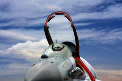 Cockpit of the military jet Stock Photography