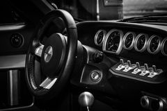 Cockpit of a modern sports car Ford GT Royalty Free Stock Photography