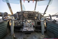 Free Cockpit Of An Old Russian Plane Stock Photography - 165324572