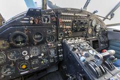 Free Cockpit Of An Old Russian Plane Stock Image - 165324631