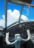 Cockpit of the old biplane Royalty Free Stock Photos