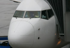 Cockpit op een vliegtuig Royalty-vrije Stock Foto's