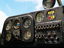 Cockpit panel. Of small airplane Royalty Free Stock Images
