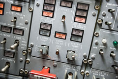 Cockpit panel Stock Photo