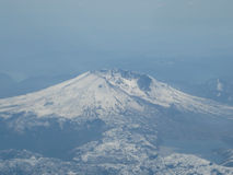 Cockpit Photo of Mount Rainier Stock Photos