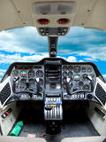 Cockpit plane. Instruments panel in a cockpit plane Stock Photos
