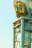 Cockpit of port crane Stock Images