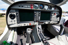 Cockpit of small sport airplane Royalty Free Stock Images