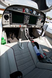 Cockpit of small sport airplane Royalty Free Stock Photos