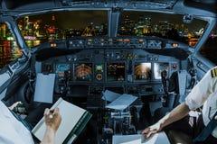 Cockpit in Sydney stockbild