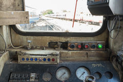 Cockpit of Thai train Stock Images