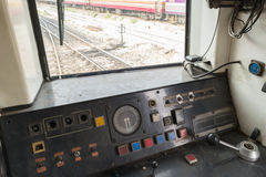 Cockpit of Thai train Royalty Free Stock Photo