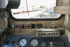 Cockpit of Thai train Stock Photo
