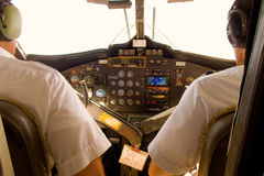 The cockpit of a twin otter Stock Photo