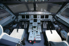 Cockpit van een Boeing Royalty-vrije Stock Foto's