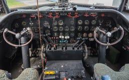 Cockpit van een uitstekend vliegtuig stock fotografie